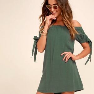 Lulus Al Fresco Evenings Off-Shoulder Dress